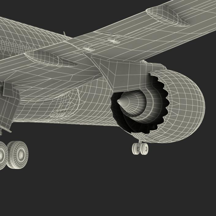 Boeing 787-9 Dreamliner United Rigged 3D
