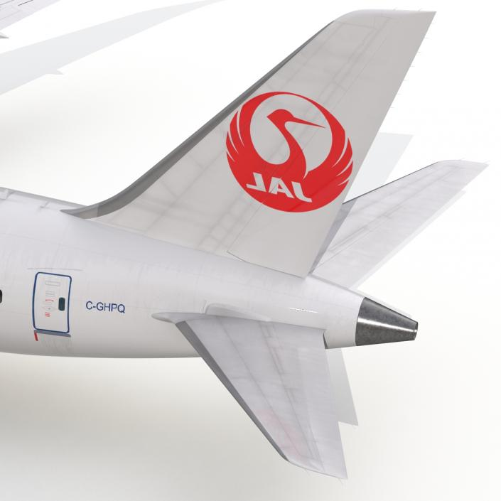 3D model Boeing 787-9 Dreamliner Japan Airlines Rigged