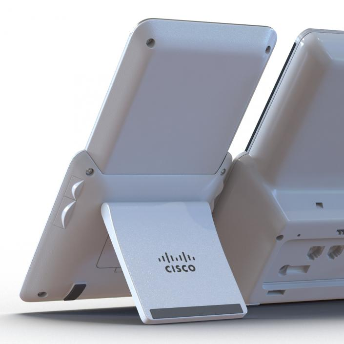 3D Cisco IP Phone 8861 and Expansion Module White   3D