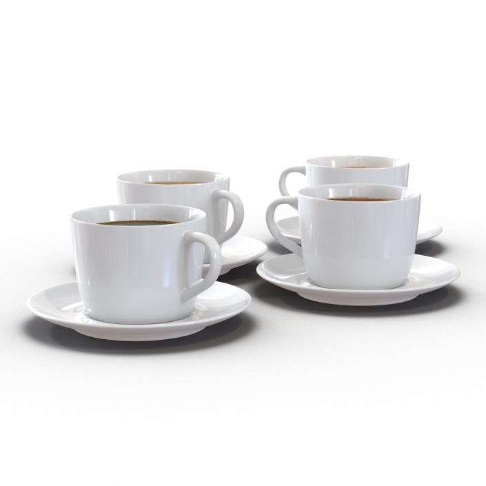 Coffee Cups Collection 3D