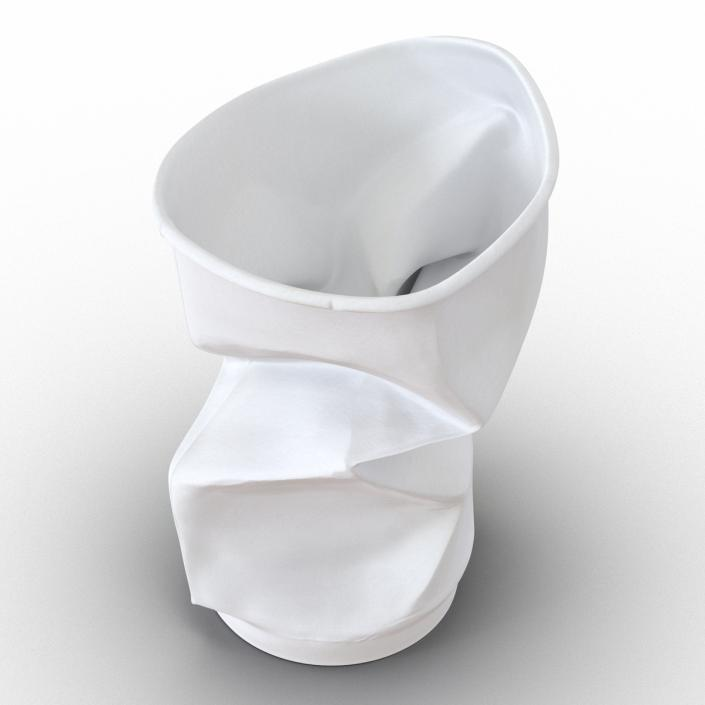 3D Crumpled Drink Cup model
