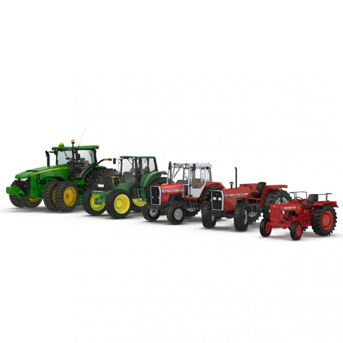 3D Rigged Tractors Collection 2 model