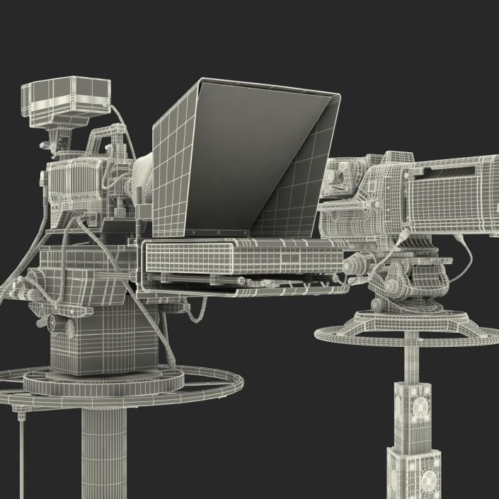3D TV Studio Cameras Collection model