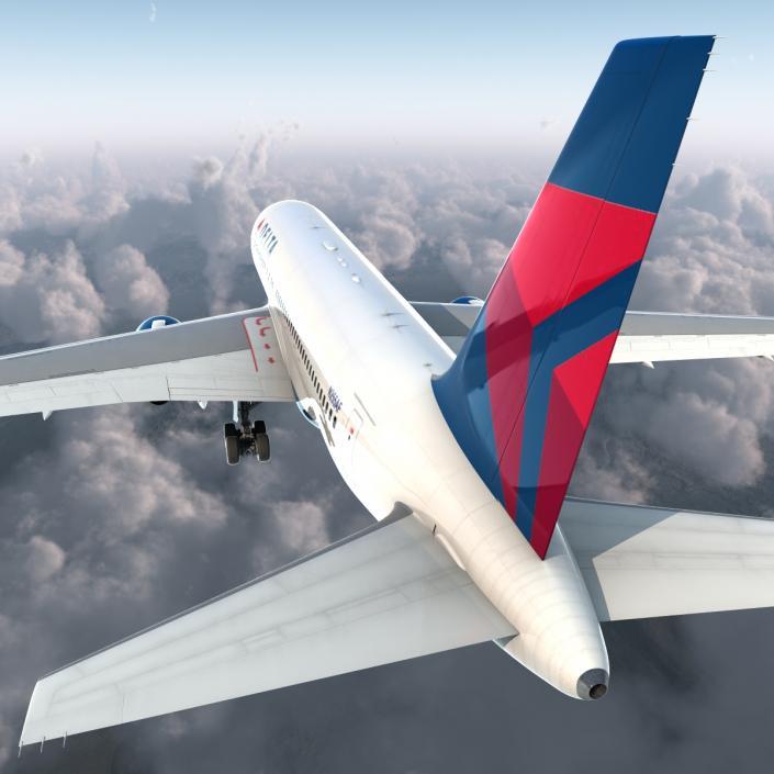 3D model Boeing 767-200 Delta Air Lines