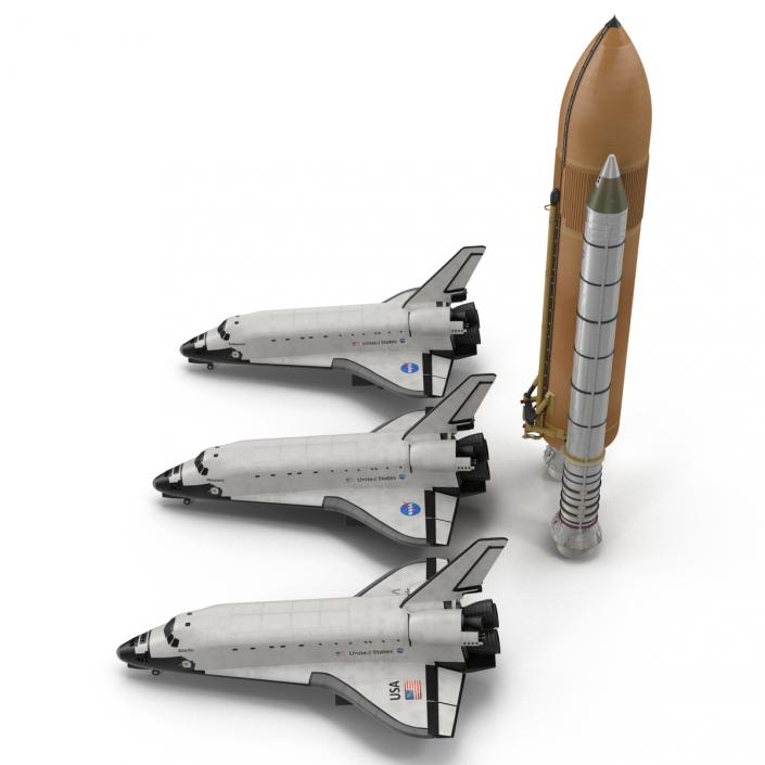 Space Shuttles Collection 2 3D