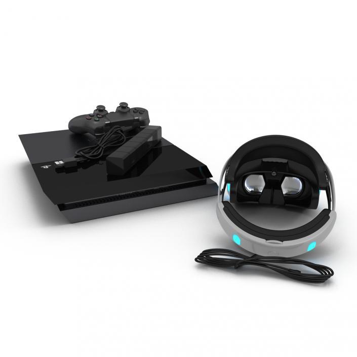 Sony PlayStation 4 Set 3 3D model