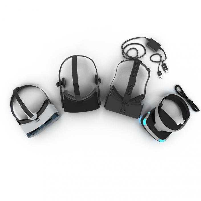 Virtual Reality Goggles Collection 3D model