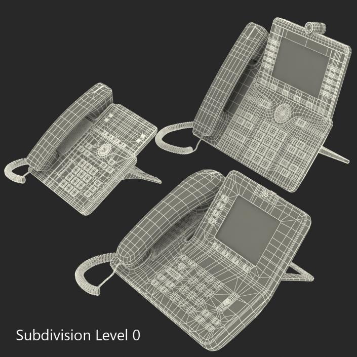 3D Cisco IP Phones Collection 2 model