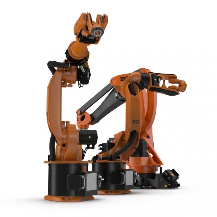 3D Kuka Robots Rigged Collection 5