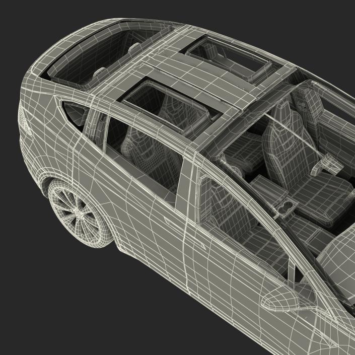3D model Tesla Model X Rigged
