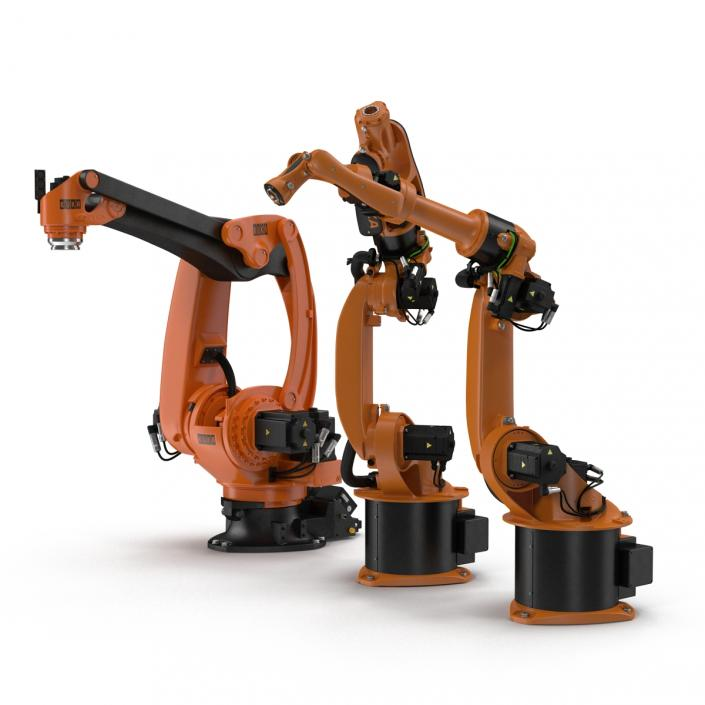 3D Kuka Robots Rigged Collection 7