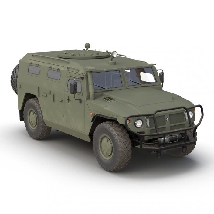 Russian Mobility Vehicle GAZ Tigr M Rigged 3D