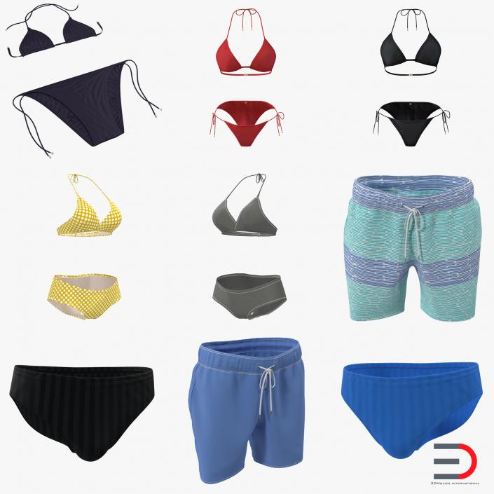 Bathing Suits Collection 3D model