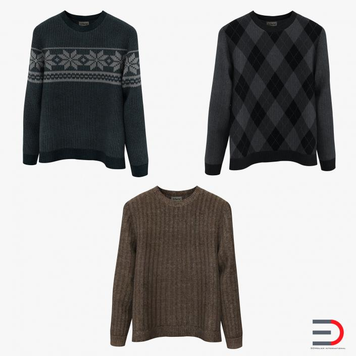 Sweaters Collection 3D model