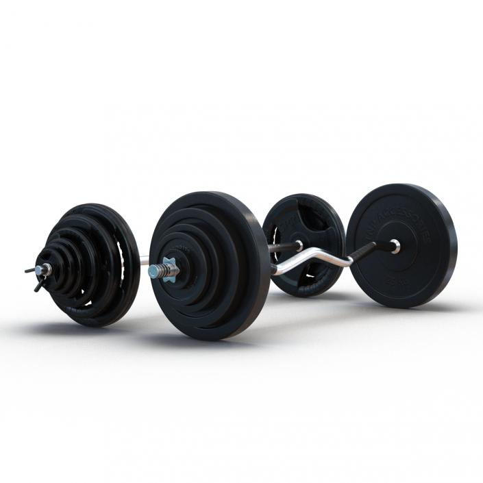 Barbells Collection 3D model