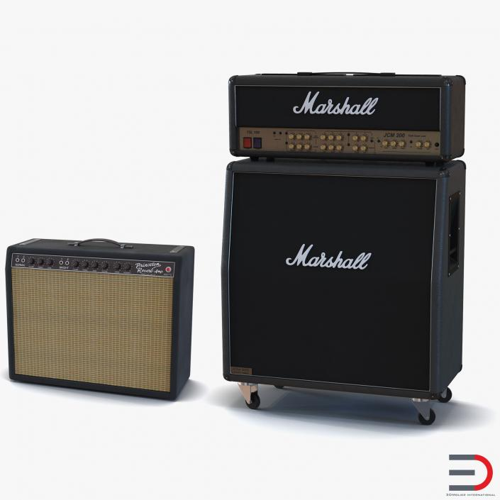 3D Guitar Amplifiers Collection model