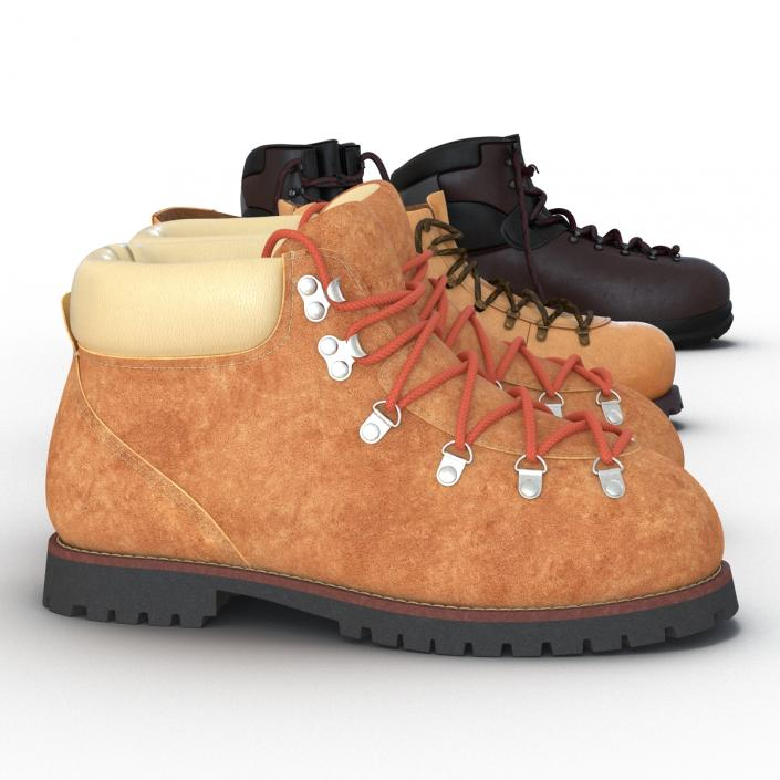 3D Hiking Boots Collection model