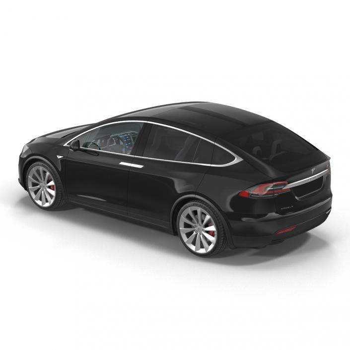 Tesla Model X Simple Interior 3D model