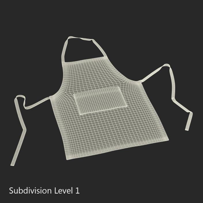 Cafe Apron 2 3D