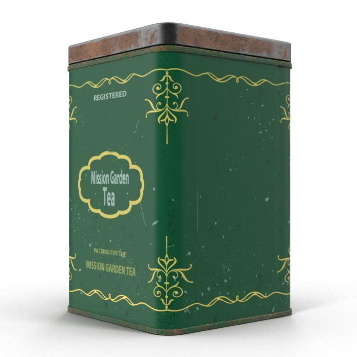 3D model Vintage Tea Tin