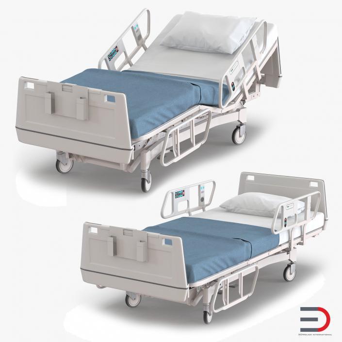3D Hospital Bed Set
