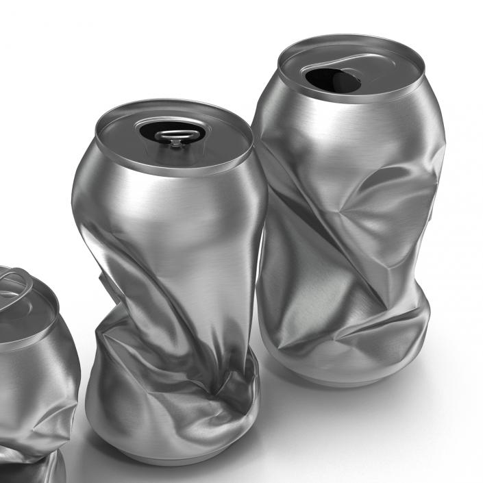 3D Crushed Soda Cans Set
