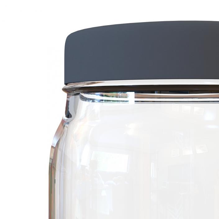 3D Glass Jar 5