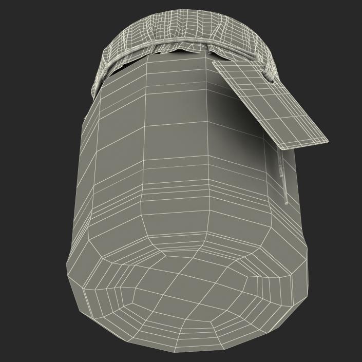 3D Glass Jar 3