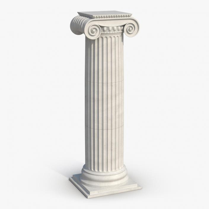 3d ionic column greco roman 2 3d molier international