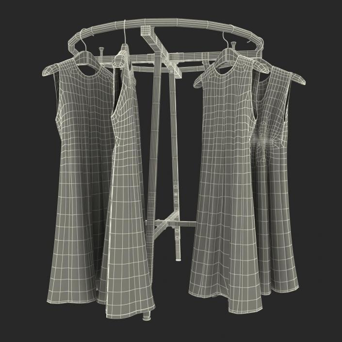3D Round Clothing Rack 3