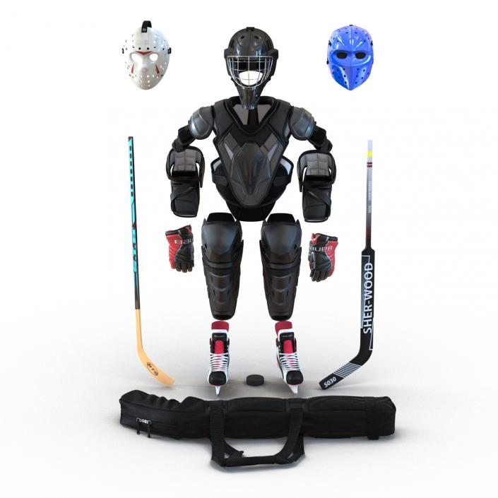Hockey Equipment Collection 3 3D model