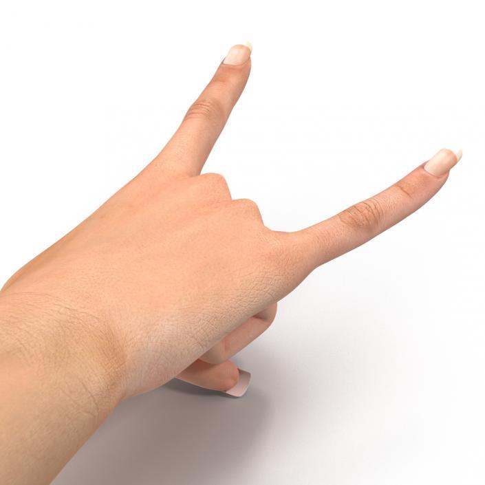 3D model Female Hand 2 Rigged