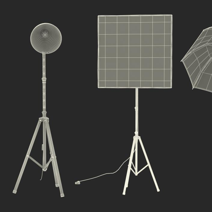 Photo Studio Lamps Collection 3D model