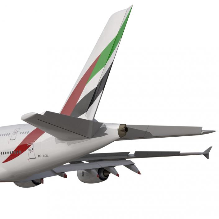 Airbus A380-800 Emirates 3D model