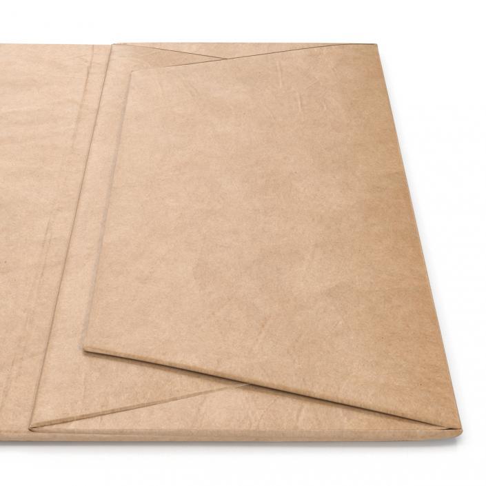3D Paper Bag With Handle Folded model   3D Molier International
