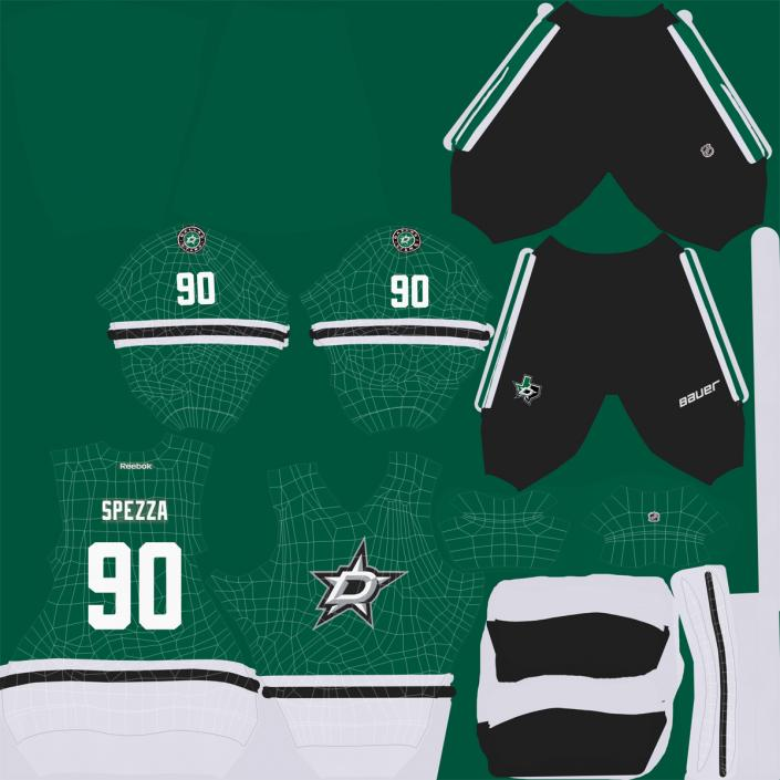 3D Hockey Jersey Dallas Stars