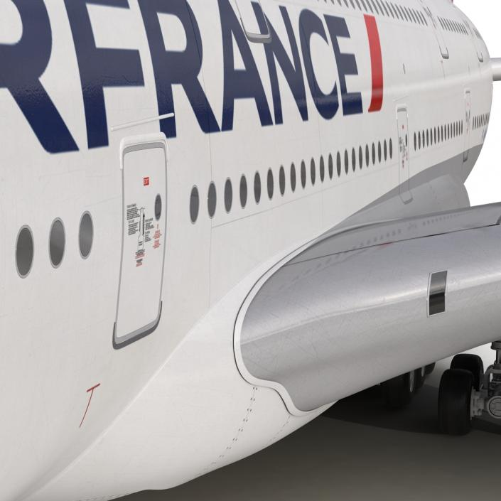 3D Airbus A380-800 Air France Rigged model