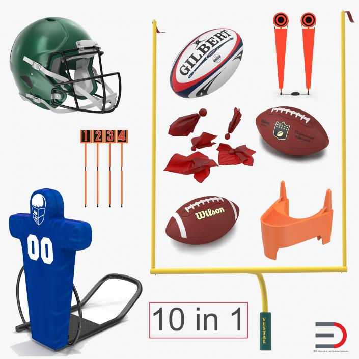 3D Football Equipment Collection 2