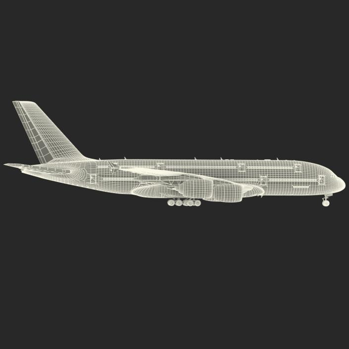 Airbus A380-900 Lufthansa Rigged 3D