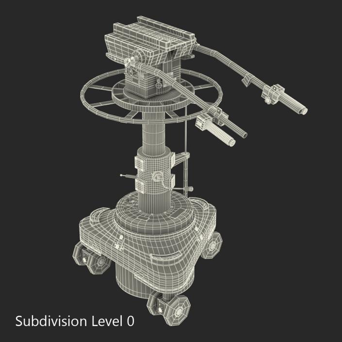 TV Studio Camera Pedestal 2 3D