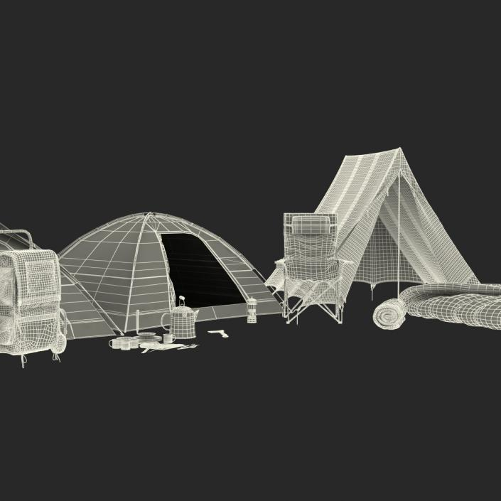 3D Camping Equipment 3D Models Collection model