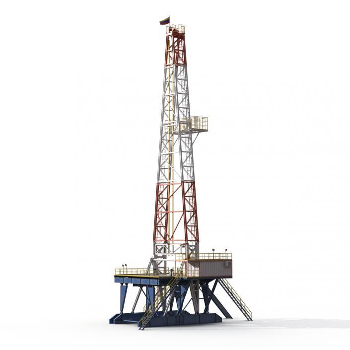 3D Fracking Gas Platform 2 model
