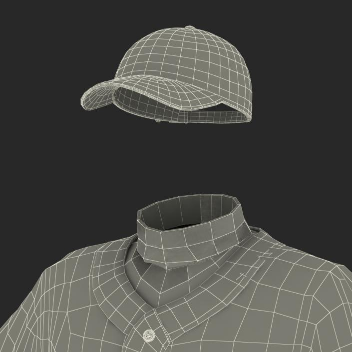 Baseball Player Outfit Mets 2 3D model