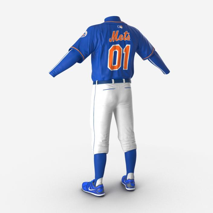 Baseball Player Outfit Mets 3 3D model