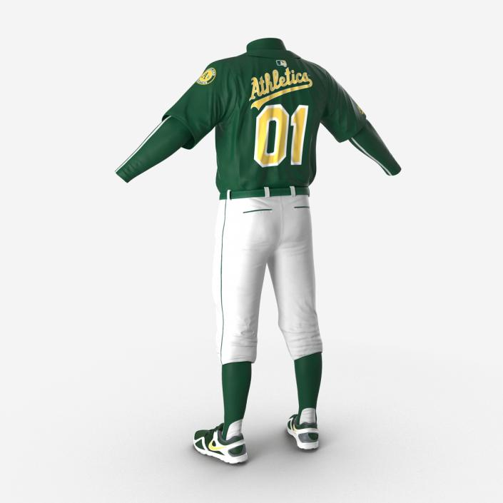 Baseball Player Outfit Athletics 3 3D model