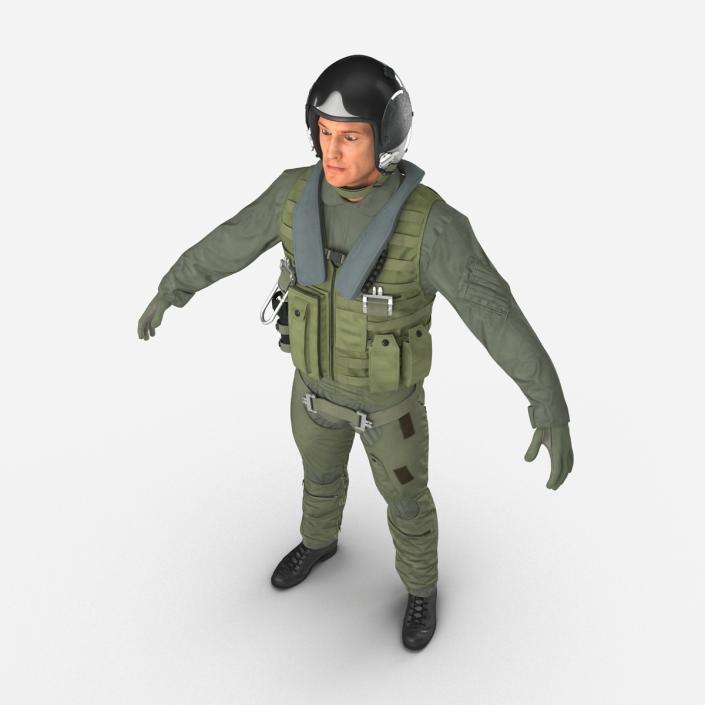 3D Military Jet Fighter Pilot
