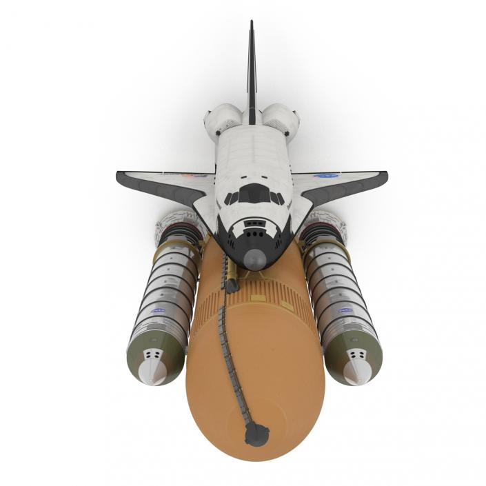 Space Shuttle Endeavour With Boosters 3D