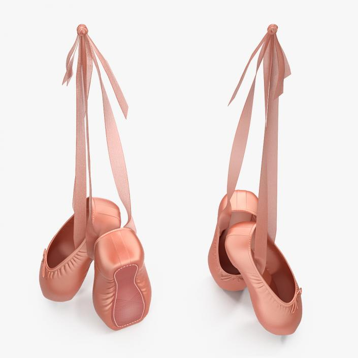 3D model Hanging Pink Ballet Shoes