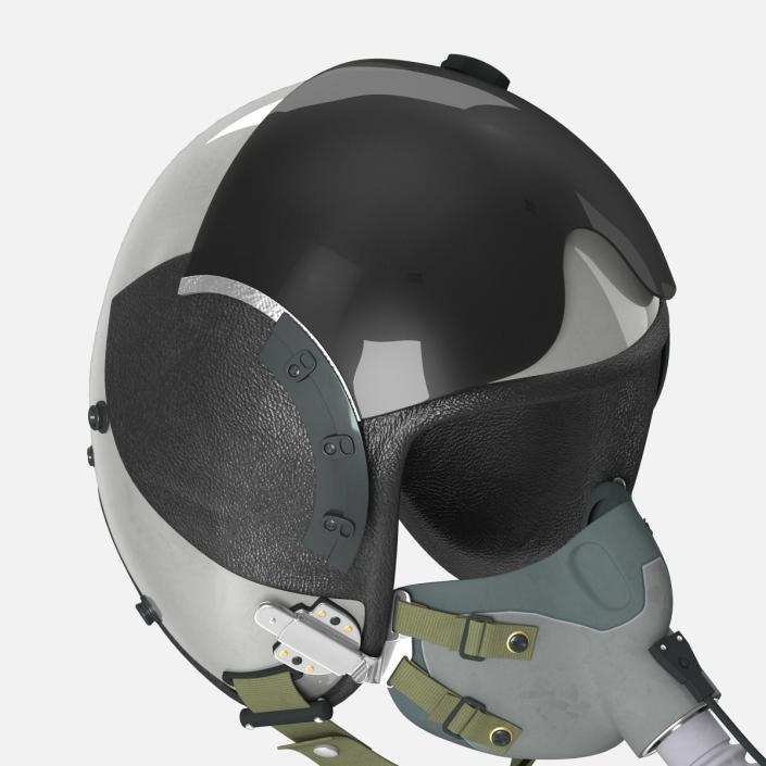 US Military Pilot Helmet 3D model