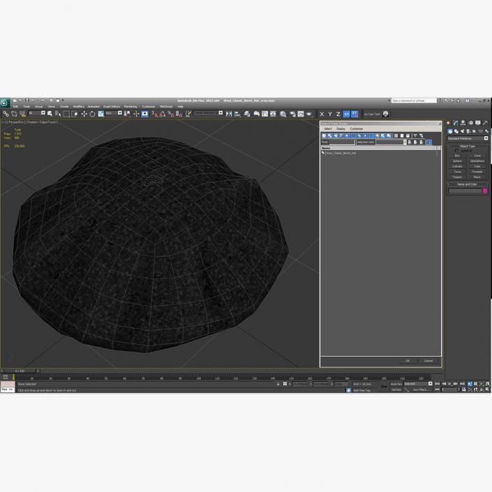 Wool Classic Beret Hat 3D